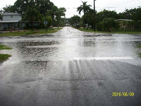 Area 7 Davis Rd. and Jamaica Rd. standing water