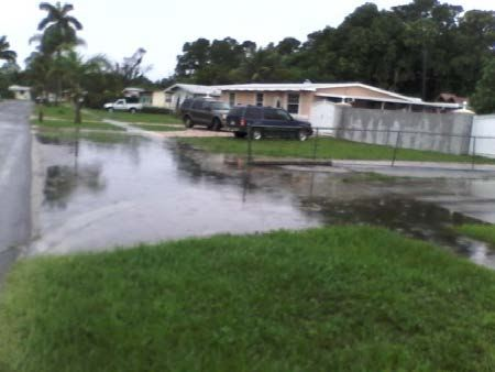 67 Barbados Rd. standing water